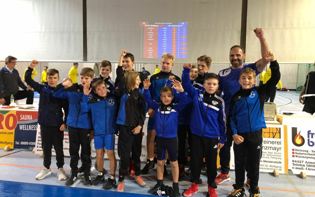 Schüler II TSV Westendorf mit Kantersieg beim TSV St. Wolfgang